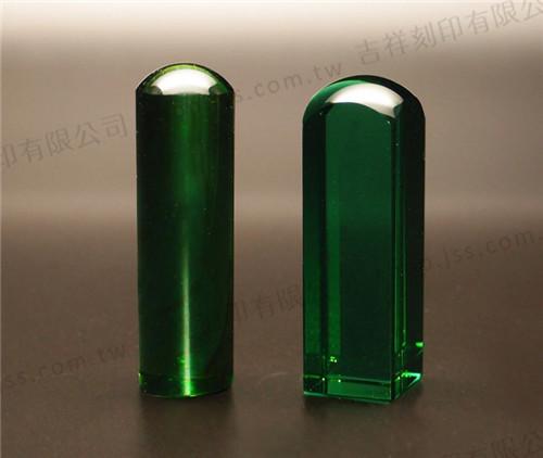 天然火山琉璃印章(綠色)