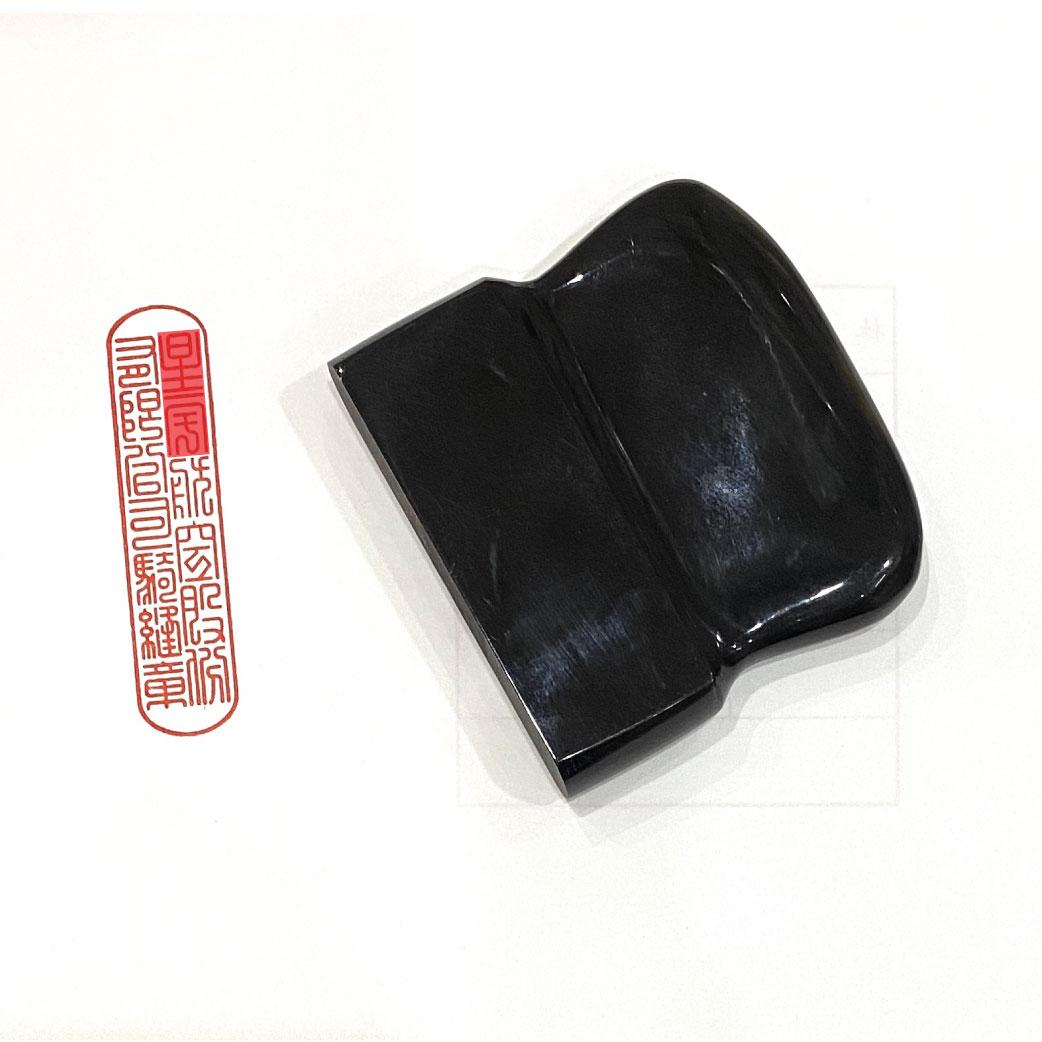 黑牛角騎縫章(割印) 1.2x6cm