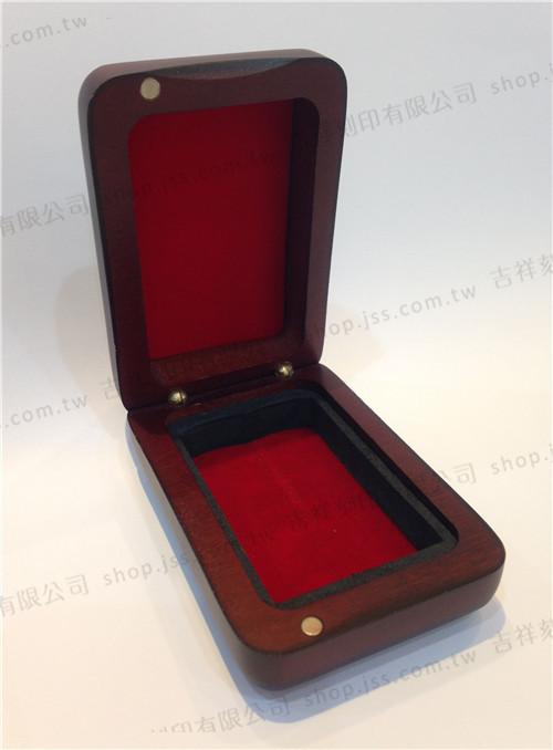 黑檀木印章專用素面木盒